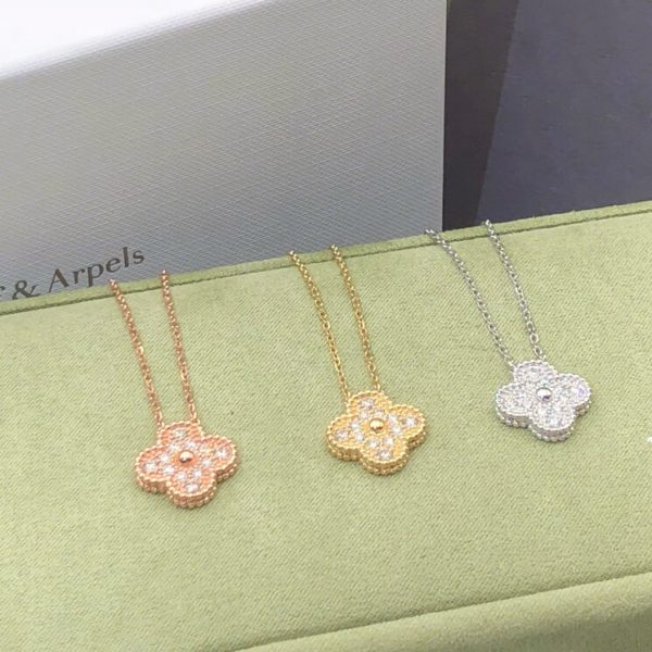 fake van cleef & arpels necklace real gold