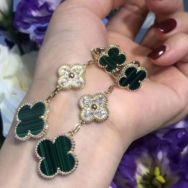 replica van cleef Magic Alhambra earrings, 3 motifs