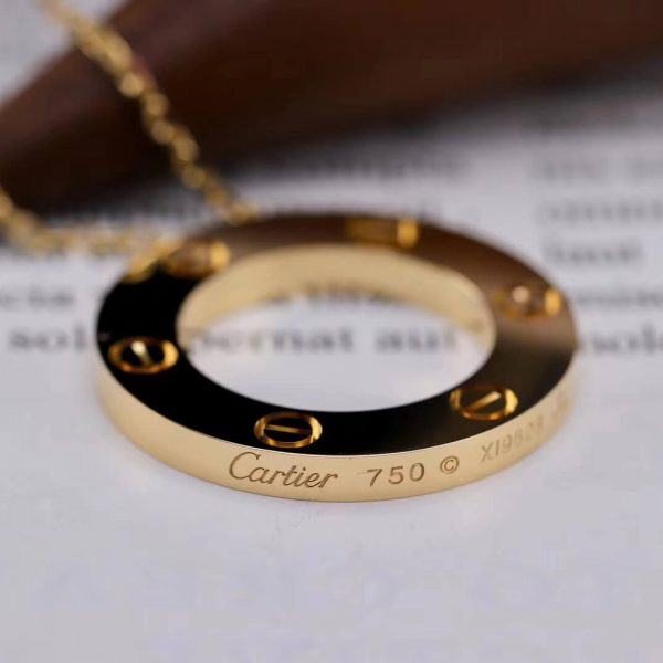Fake Cartier Love Necklace Solid Gold