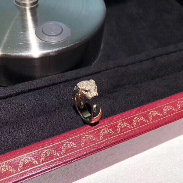replica panthere de Cartier ring real gold