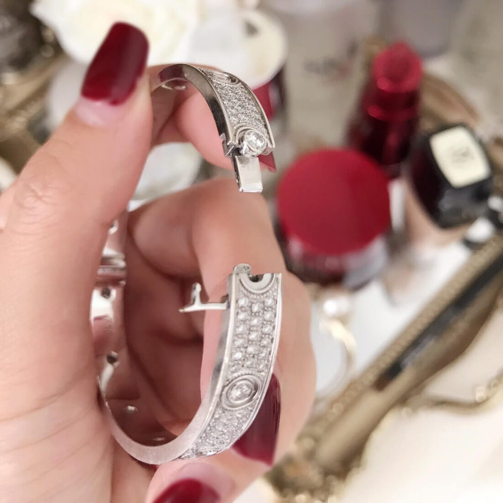 Imitation Cartier Love Bracelet with diamonds