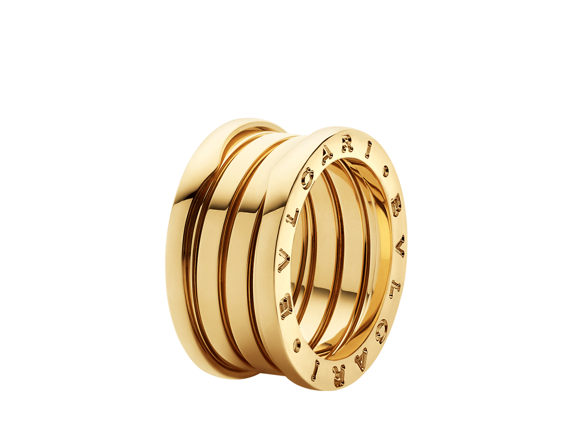 duplicate bulgari ring yellow gold