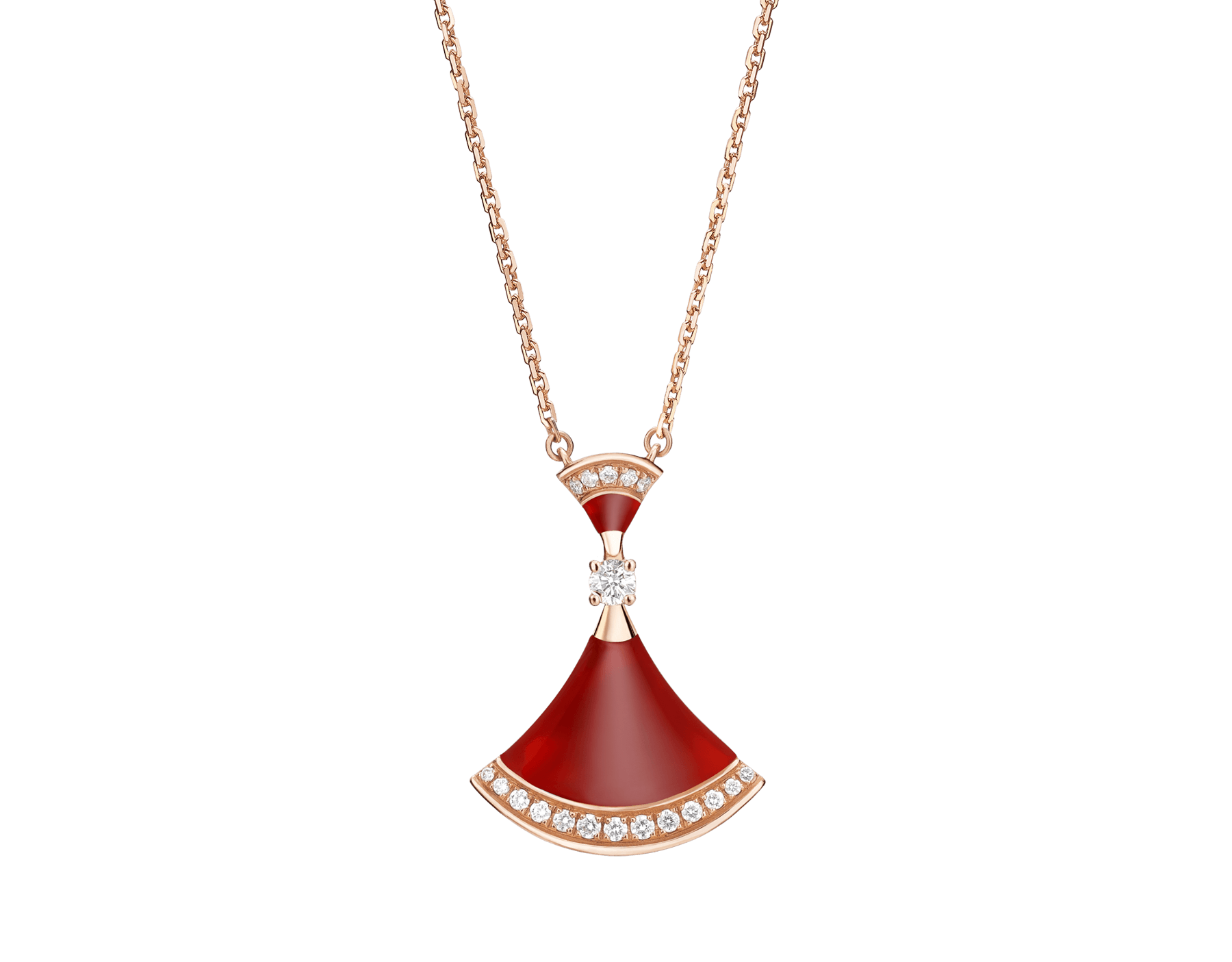 Replica Bulgari Divas Dream Necklace with diamonds
