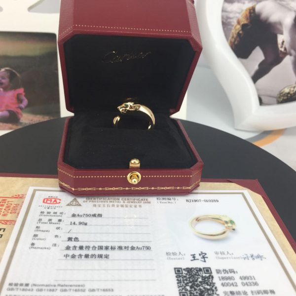 panthere de Cartier ring gold