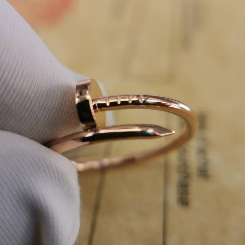 fake nail ring rose gold